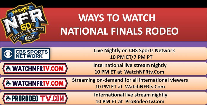 How to Watch National Finals Rodeo Online with Cable TV and