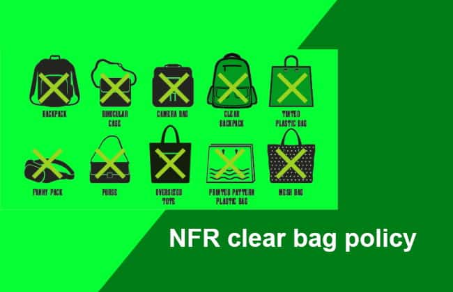 NFR Clear Bag Rules